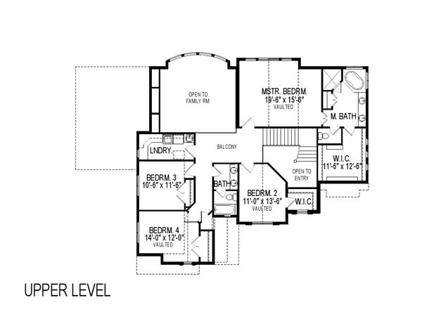 European Floor Plan - Upper Floor Plan Plan #920-115