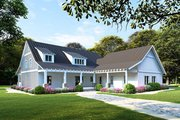 Farmhouse Style House Plan - 3 Beds 2 Baths 1982 Sq/Ft Plan #923-107 Exterior - Front Elevation