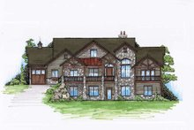 Traditional Exterior - Front Elevation Plan #5-307