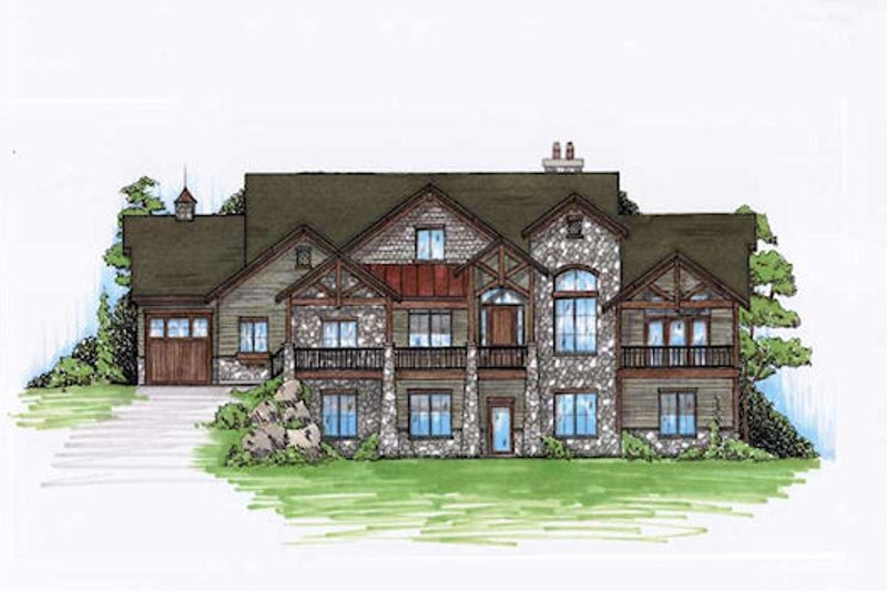 Home Plan - Traditional Exterior - Front Elevation Plan #5-307