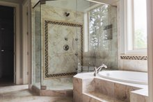 European Interior - Master Bathroom Plan #437-58