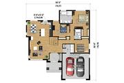 Prairie Style House Plan - 3 Beds 2 Baths 1637 Sq/Ft Plan #25-4460 Floor Plan - Main Floor