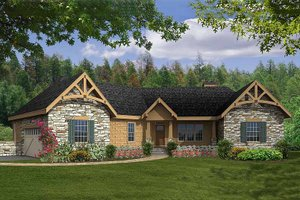 Craftsman Exterior - Front Elevation Plan #456-22