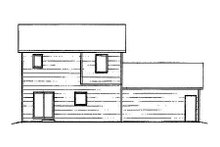 House Plan Design - Traditional Exterior - Rear Elevation Plan #58-192