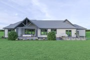 Craftsman Style House Plan - 3 Beds 2.5 Baths 2546 Sq/Ft Plan #1070-65 Exterior - Rear Elevation