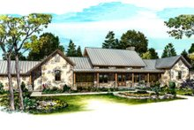 House Plan Design - Modern design, Ranch style home, elevation photo