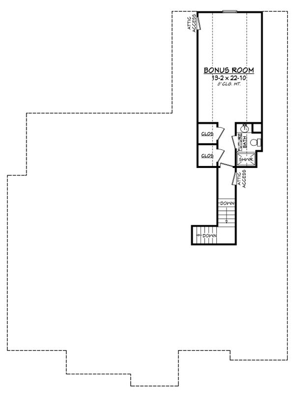 Craftsman Floor Plan - Upper Floor Plan Plan #430-141
