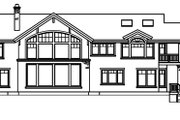 Craftsman Style House Plan - 4 Beds 4.5 Baths 4506 Sq/Ft Plan #124-516 Exterior - Rear Elevation