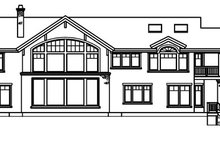 Craftsman Exterior - Rear Elevation Plan #124-516