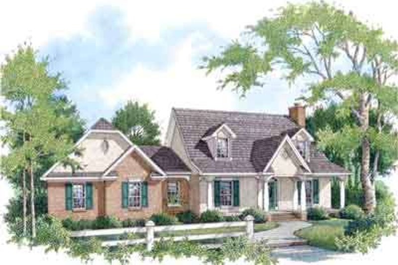 Traditional Exterior - Front Elevation Plan #14-229 - Houseplans.com
