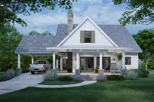 House Plan Design - Cottage Exterior - Front Elevation Plan #120-273