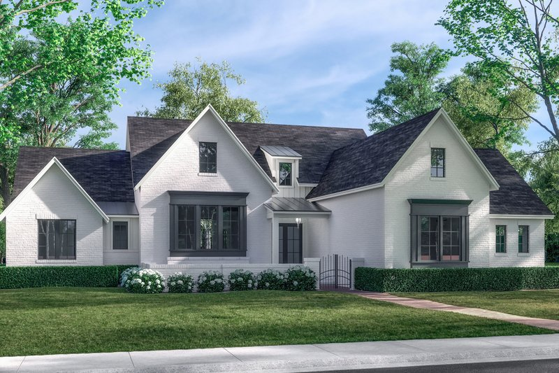 House Plan Design - Cottage Exterior - Front Elevation Plan #430-263
