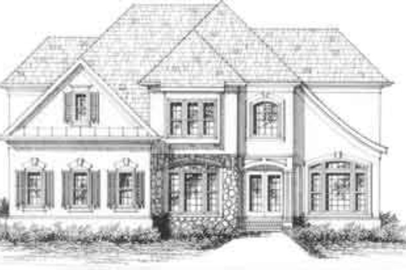 European Exterior - Front Elevation Plan #129-118