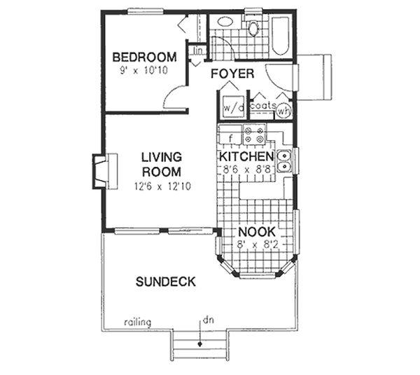 Cottage Floor Plan - Main Floor Plan #18-163