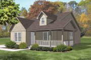 Colonial Style House Plan - 3 Beds 1 Baths 1132 Sq/Ft Plan #50-264 Exterior - Front Elevation