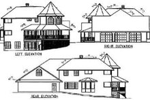 Dream House Plan - Victorian Exterior - Rear Elevation Plan #60-610