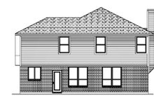 Home Plan - Traditional Exterior - Rear Elevation Plan #84-362