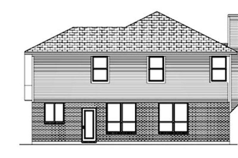 Traditional Exterior - Rear Elevation Plan #84-362 - Houseplans.com