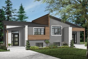 Dream House Plan - Modern Exterior - Front Elevation Plan #23-2673