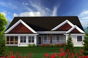 Ranch Style House Plan - 3 Beds 2.5 Baths 2129 Sq/Ft Plan #70-1167 Exterior - Rear Elevation