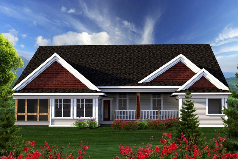 Ranch Exterior - Rear Elevation Plan #70-1167 - Houseplans.com
