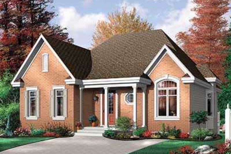European Exterior - Front Elevation Plan #23-324 - Houseplans.com