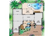 Mediterranean Style House Plan - 5 Beds 4.5 Baths 6162 Sq/Ft Plan #27-397 Floor Plan - Lower Floor