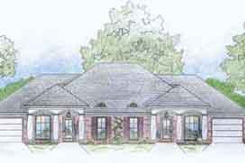 Southern Exterior - Front Elevation Plan #36-440