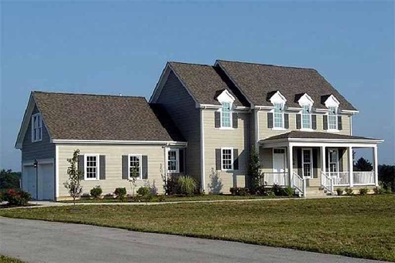 Dream House Plan - Farmhouse Exterior - Front Elevation Plan #137-106