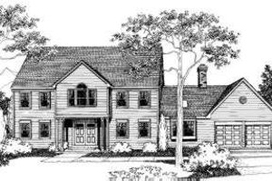 Colonial Exterior - Front Elevation Plan #303-117