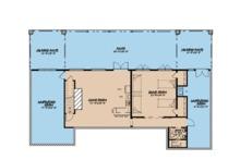 Ranch Floor Plan - Lower Floor Plan Plan #923-88