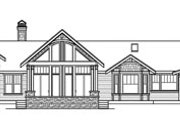 Craftsman Style House Plan - 3 Beds 3 Baths 3537 Sq/Ft Plan #124-777 Exterior - Rear Elevation