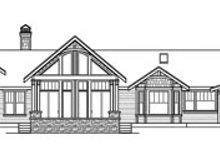 House Plan Design - Craftsman Exterior - Rear Elevation Plan #124-777