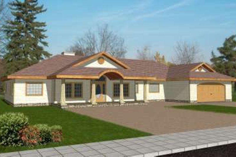 Architectural House Design - Traditional Exterior - Front Elevation Plan #117-345