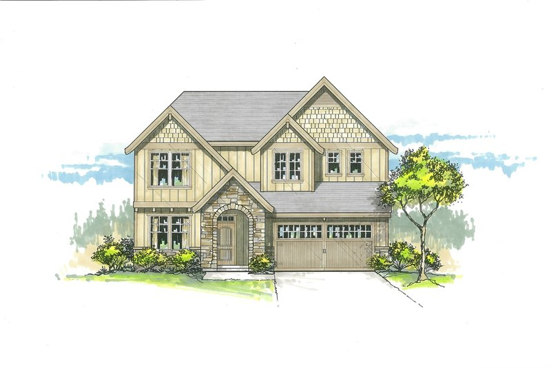Craftsman Exterior - Front Elevation Plan #53-536