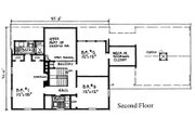 Colonial Style House Plan - 3 Beds 2.5 Baths 2129 Sq/Ft Plan #315-101 Floor Plan - Upper Floor