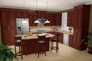 Country Style House Plan - 3 Beds 2.5 Baths 2021 Sq/Ft Plan #21-245