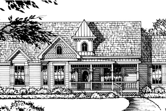 Country Exterior - Front Elevation Plan #40-337