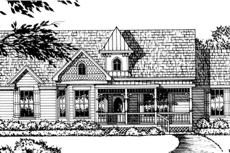 Country Style House Plan - 3 Beds 2 Baths 1753 Sq/Ft Plan #40-337
