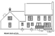 Colonial Style House Plan - 3 Beds 2.5 Baths 2138 Sq/Ft Plan #312-637 Exterior - Rear Elevation