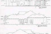 Mediterranean Style House Plan - 3 Beds 3 Baths 2523 Sq/Ft Plan #135-131 Exterior - Rear Elevation