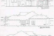 Mediterranean Style House Plan - 3 Beds 3 Baths 2523 Sq/Ft Plan #135-131 Exterior - Rear Elevation