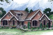 Bungalow Style House Plan - 2 Beds 2.5 Baths 2159 Sq/Ft Plan #312-708 Exterior - Front Elevation