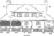 Country Style House Plan - 3 Beds 2.5 Baths 2373 Sq/Ft Plan #81-109 Exterior - Rear Elevation