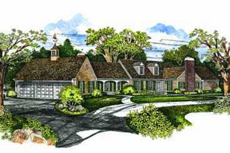 Southern Exterior - Front Elevation Plan #72-174 - Houseplans.com