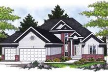 Architectural House Design - Traditional Exterior - Front Elevation Plan #70-835