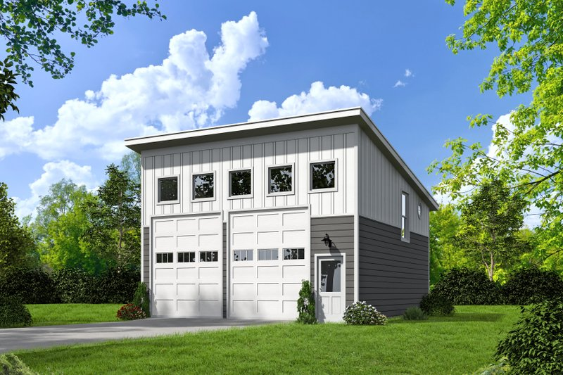 House Plan Design - Contemporary Exterior - Front Elevation Plan #932-129