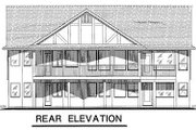 Ranch Style House Plan - 3 Beds 2 Baths 1668 Sq/Ft Plan #18-1056 Exterior - Rear Elevation