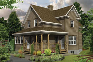 Country Exterior - Front Elevation Plan #25-4479