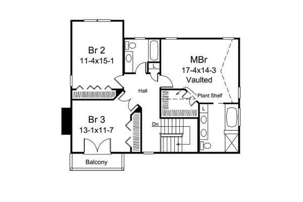 House Plan Design - European Floor Plan - Upper Floor Plan #57-694
